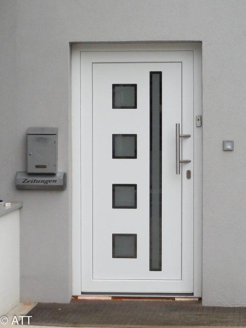 Haustür Kunststoff Weiß Einsatzfüllung